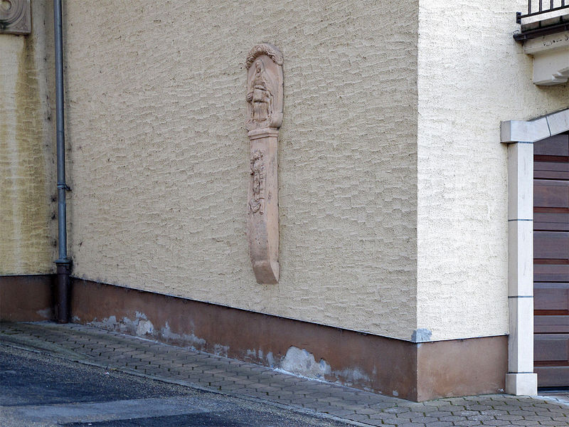 Wayside cross in Kopstal, Luxembourg, Montée de Bridel