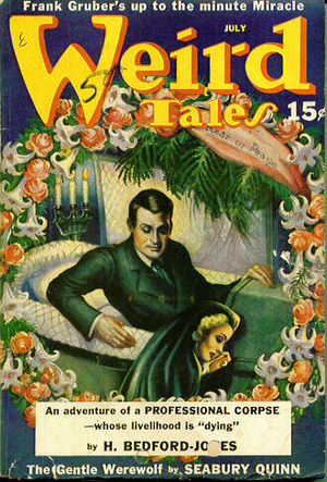 "H. Bedford-Jones - Bedford-Jones's ""The Artificial Honeymoon"" was the cover story in the July 1940 Weird Tales"