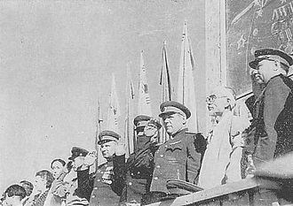 Division of Korea - Welcome celebration for the Red Army in Pyongyang on 14 October 1945