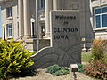 Welcome sign - Clinton, Iowa.JPG