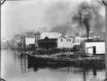 Wellington Harbour waterfront buildings circa 1887, including the Star Boating Club building ATLIB 310967.png