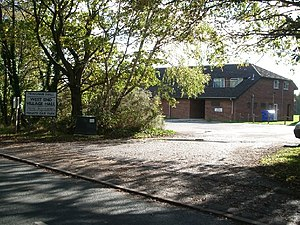 West End, Surrey - Image: West End village hall geograph.org.uk 73476