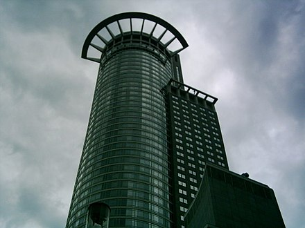 Westend Tower, also known as Westendstrasse 1 or Crown Tower, Headquarters of DZ Bank Westendtower-5.JPG