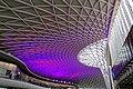 Western Concourse ceiling, King's Cross railway station, London, England.jpg