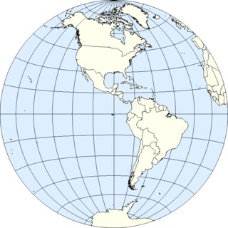 Western Hemisphere half of the Earth that is west of the prime meridian and east of 180° longitude