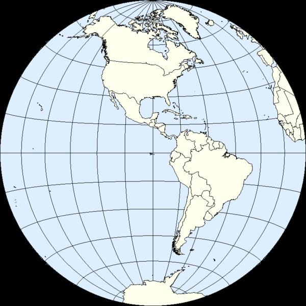 Western hemisphere vs eastern hemisphere of Earth