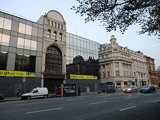 Westmoreland Street - Modern and old buildings in Westmoreland Street near its southern end