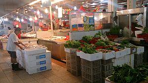 Wet market in Singapore