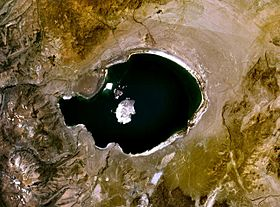Vue satellite du lac Mono
