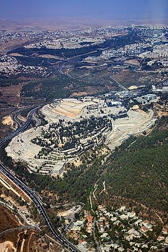 Har HaMenuchot - Aerial view of Har HaMenuchot