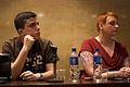 Wikimania 2009 - Wikimedia Chapter Panelists- Damián Finol & Alice Wiegand.jpg