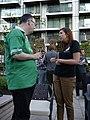 Wikimania volunteers party 2014-08-03 18 Brian Byrne and Katherine Bavage.jpg