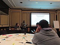 Wikipedians at Wikimania 2018 learning days 01.jpg