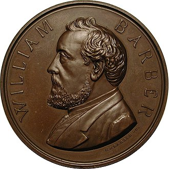 William Barber (engraver) - U.S. Mint medal, Chief Engraver William Barber