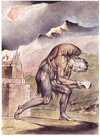 The Pilgrim's Progress - William Blake: Christian Reading in His Book (Plate 2, 1824–27)