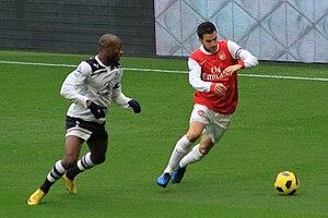 William Gallas - Gallas (left) playing for Tottenham Hotspur in 2010