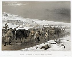 William Simpson - Crimean War - Huts and Warm Clothing for the Army.jpg
