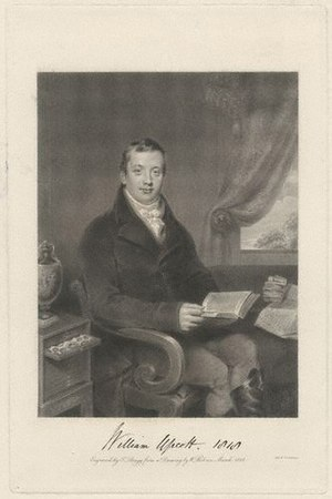 William Upcott - William Upcott, engraving from 1818 by T. Bragg from a portrait by William Behnes.