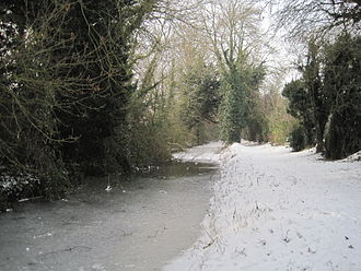 Wilts & Berks Canal - The canal near Grove frozen in December 2010