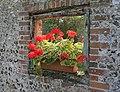 Window in garden wall, School Hill, Soberton - geograph.org.uk - 237719.jpg