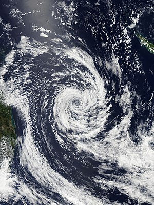 Cyclone Winston - Winston east of Queensland, with subtropical characteristics on 27 February