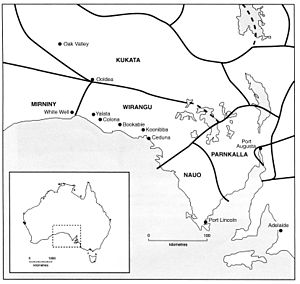 Barngarla people - Image: Wirangu Map