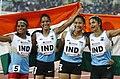 Women 4x100m Relay Bronze Medalist - Indian Team 2017.jpg