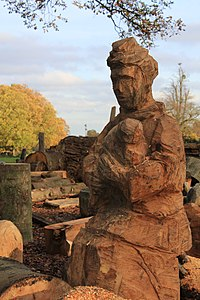 Wooden sculptures, Trent Park, Enfield, UK.JPG