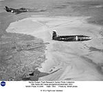 X-1A in flight over lakebed DVIDS739014.jpg