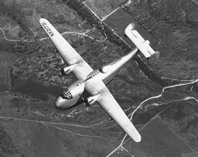 XP4Y-1 in flight
