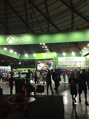 EB Games Expo - A view of the Xbox pavilion at the 2013 EB Games Expo.
