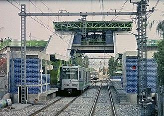 Xochimilco Light Rail - Francisco Goitia station, which was the Xochimilco terminus from 1988 until 1995