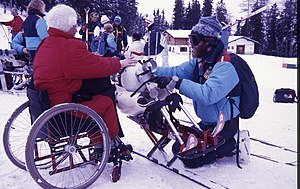 Outrigger ski - Image: Xx 0188 1988 winter paralympics 3b scans (6)