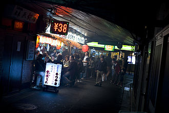 Shinbashi - A yakitori shop under the railway tracks near Shimbashi