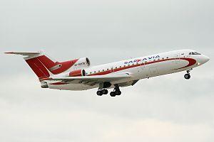 Saratov Airlines - Former Saravia Yakovlev Yak-42D