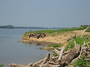 Ohio River shoreline at the Yankeetown Site