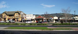 Yarragon, Victoria - Part of Yarragon's main streetscape looking south