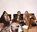 Yasser Arafat in Mashhad, with Ebrahim Yazdi and Abdul Karim Hashemi Nejad - February 1979.jpg