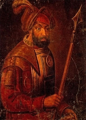 Yermak Timofeyevich - 17th century portrait of Yermak, the first Russian leader of the exploration and conquest of Siberia