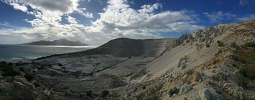 Yiali island pumice quarry