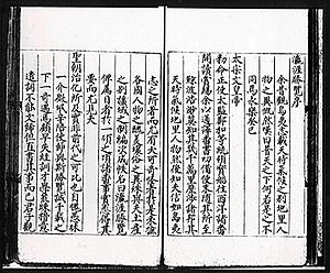 Yingyai Shenglan -  A page from Ming dynasty woodcut printed edition of Yingyai Shenglan