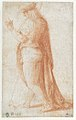Young Man Standing in Profile Facing Left (recto); Sketch of Two Capitals (verso) MET 1999.405a.jpg