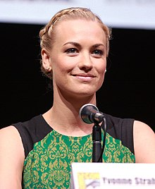 Yvonne Strahovski at the San Diego Comic-Con International in July 2013
