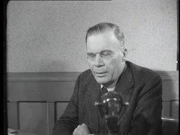 Bioscoopjournaal uit 1946. De luitenant-Gouverneur-generaal van Nederlands-Indië, dr. H.J. van Mook, spreekt tot de kijkers over de nationale bewustwording en het verlangen van de mensen in Nederlands-Indië naar onafhankelijkheid en over de aard van de relatie tussen deze eventuele onafhankelijke staat en Nederland.