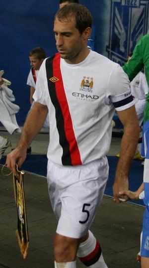 Pablo Zabaleta - Zabaleta with Manchester City in 2010