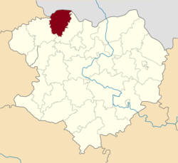 Raion location in Kharkiv Oblast