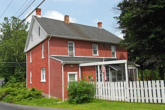 Liberty Township, Adams County, Pennsylvania - House in Zora near the state line