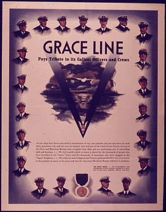 W. R. Grace and Company - Grace Line WWII poster