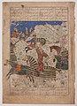 """Rustam Overpowers the King of Hamavaran"", Folio from a Shahnama (Book of Kings) MET sf13-160-2r.jpg"