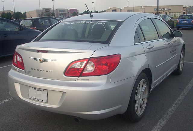 '07-'08 Chrysler Sebring Sedan Loaner -- Rear